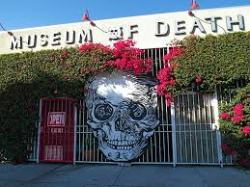 mod Happy to be alive on a visit to the Museum Of Death