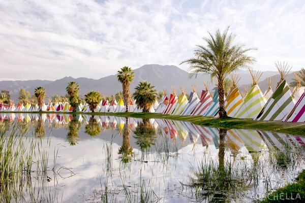 Traditional Native American teepees offered to Coachella attendees