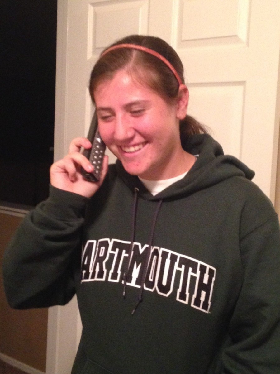 Tatyanah giving her verbal to Dartmouth.