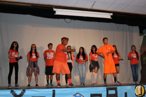 West Covina HS freshman class performs in the class battles.