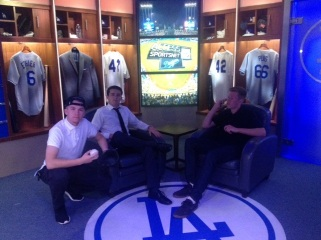 Visiting the Dodgers Pre Game set.