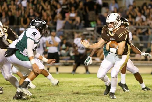 A fierce battle between rivalry schools