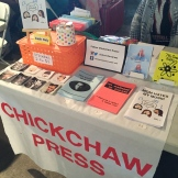 Chickchaw Press booth // http://chickchawpress.tumblr.com/