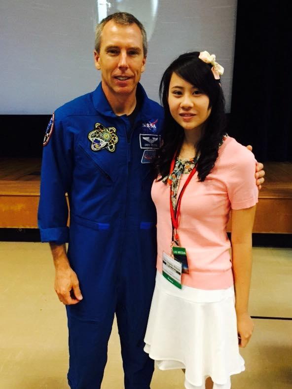 Astronaut Drew Feustel and Journalist Cassandra Hsiao.