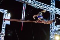 "Graff tackles the ""American Ninja Warrior"" national finals course."