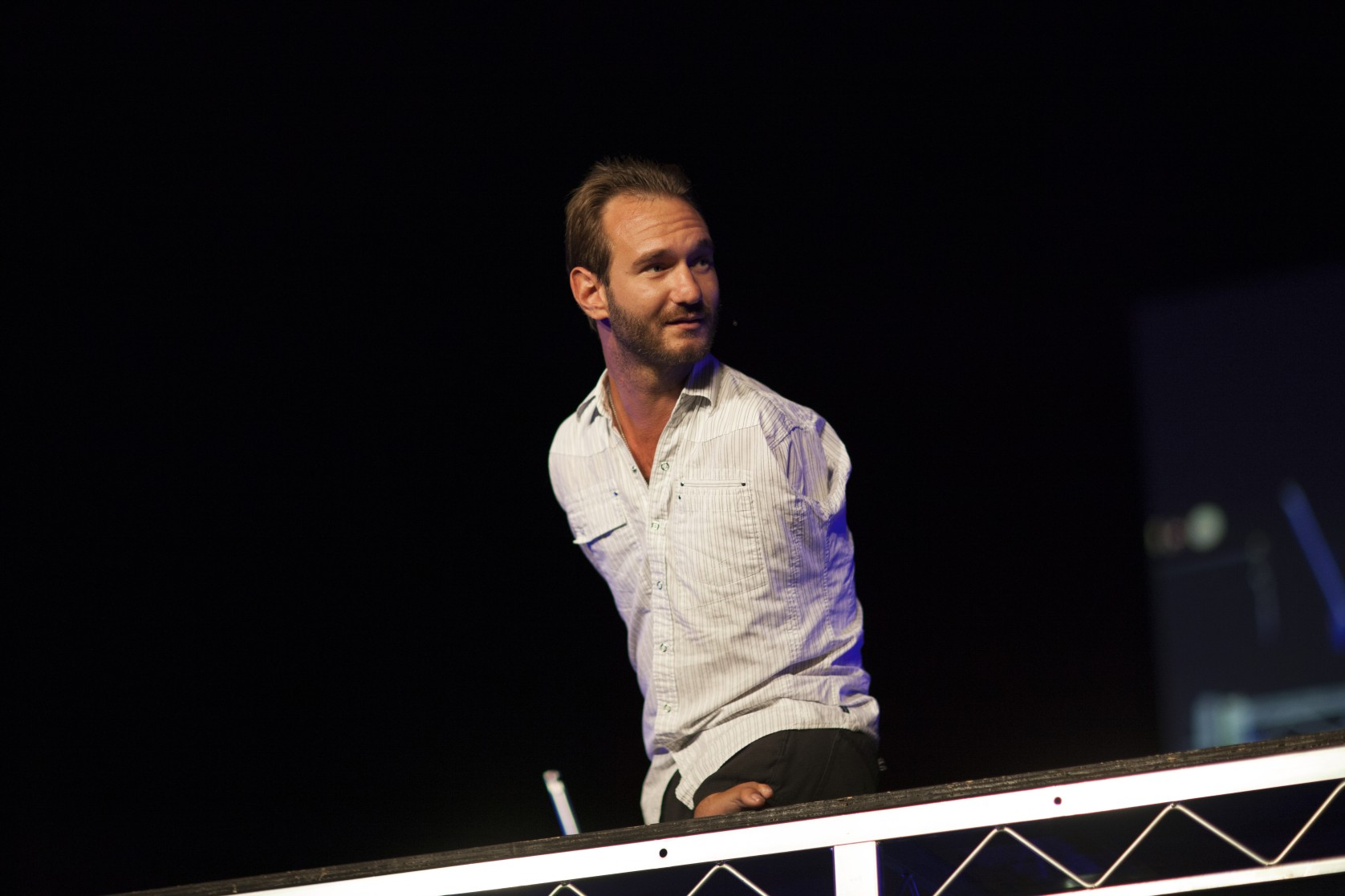 img 3938 Nick Vujicic, Man Without Limbs, speaks at One Voice Student Gathering