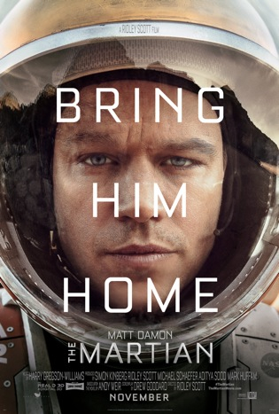 The Martian Official Poster. Courtesy of Fox.