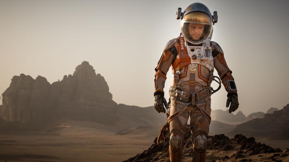 Matt Damon as Mark Watney in the Martian. Courtesy of Fox.