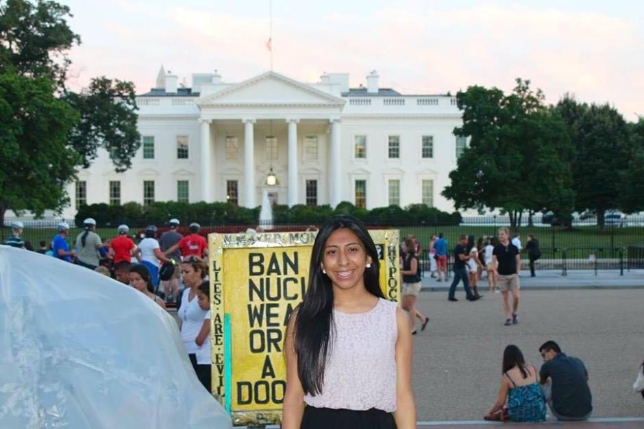 The author at the White House. Photo courtesy of Miriam Antonio.