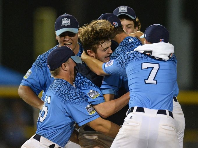 Conner Valley Big League celebrating their big win in the National Championship