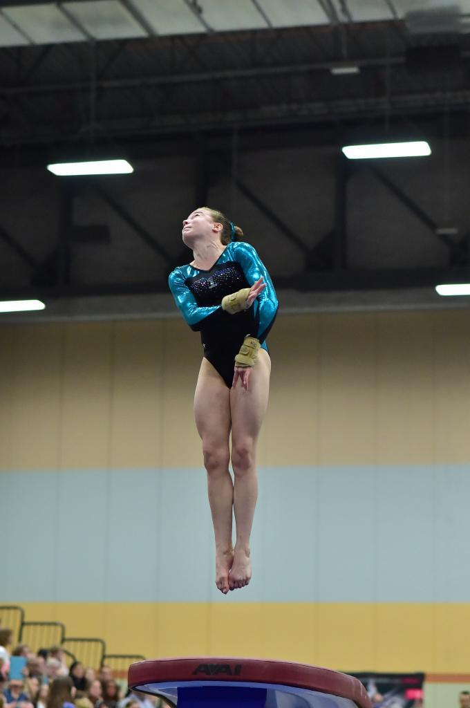 GHCHS sophomore Katie Chamberlain competing