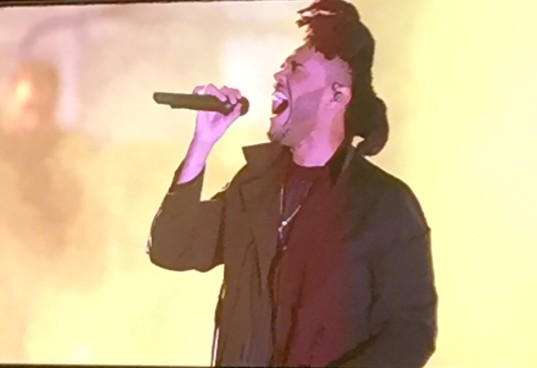 The Weeknd brings his powerful vocals to the stage
