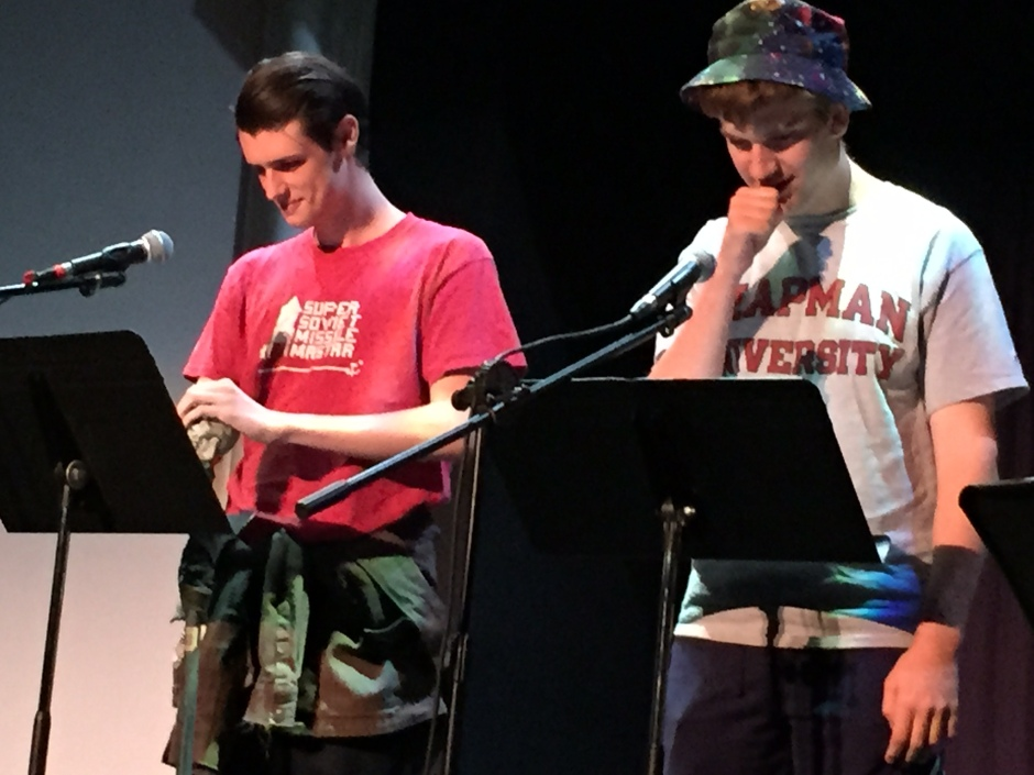 Chris Kelly and Evan Swope perform at OCSA's 2015 Scarefest