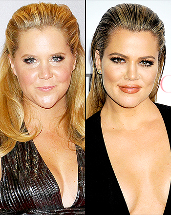 Khloe Kardashian (right) & Amy Schumer (left).
