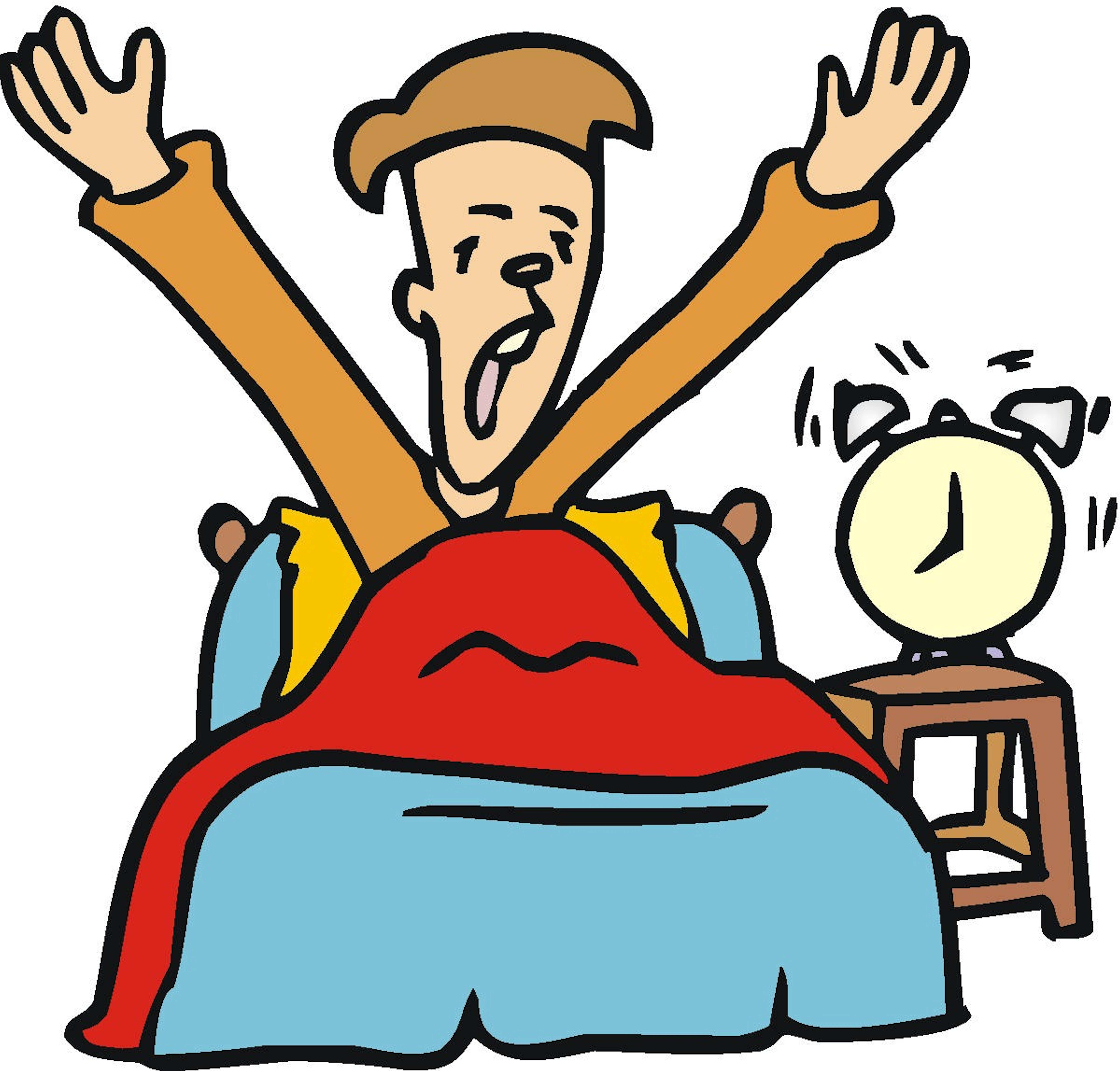8 tips for waking up early in the morning hs insider rh highschool latimes com boy wake up clipart wake up clipart free