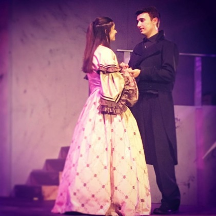 Leisher and Counihan play the main romance in the show between Marius and Cosette.