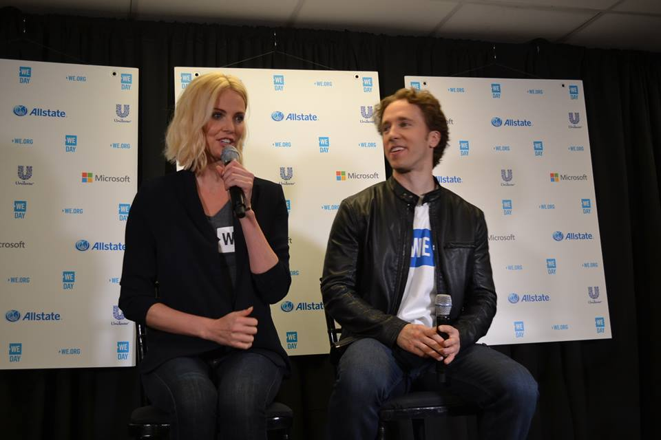Charlize Theron and WE Day Founder Craig Kielburger