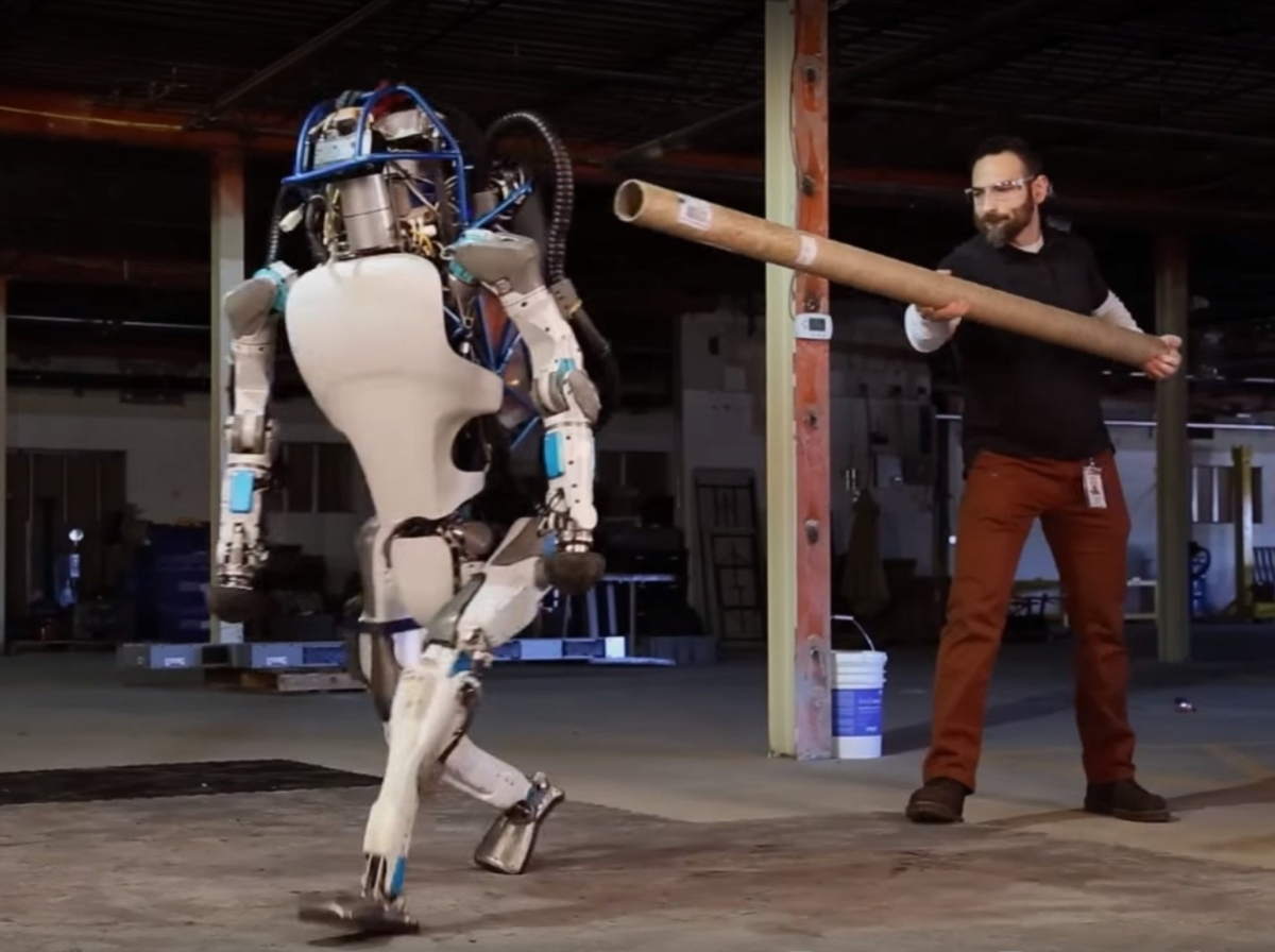 Although Boston Dynamics' robot is a lot less frightening than the robots in movies, with development, someday, the robots we thought harmless might be a threat to humanity.