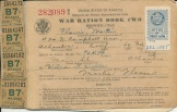 Since supplies were limited during the war, Flavin grew up using this war ration book and food stamps to purchase the necessities.
