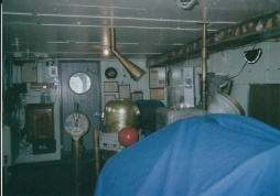 During his time aboard the United States Victory troopship, Flavin worked in this radar operating room.