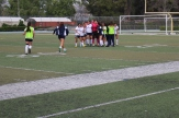 The Lady Jaguars storm onto the field as time expired and they won the game and the championship.