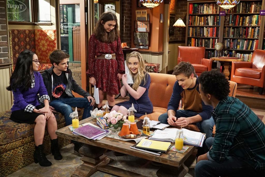 GIRL MEETS WORLD -CECELIA BALAGOT, COREY FOGELMANIS, ROWAN BLANCHARD, SABRINA CARPENTER, PEYTON MEYER, AMIR MITCHELL-TOWNES (Disney Channel/Eric McCandless)