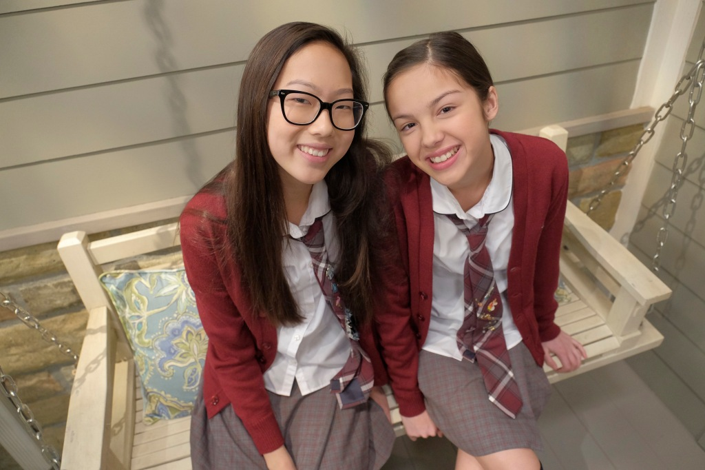 """BIZAARDVARK - """"Frankie Has a Hater"""" - When they girls receive mean comments about their videos, Frankie begins to lose her confidence and becomes obsessed with finding who wrote them. This episode of """"Bizaardvark"""" airs Sunday, July 17 (8:30 - 9:00 P.M. EDT) on Disney Channel. (Disney Channel/Tony Rivetti) MADISON HU, OLIVIA RODRIGO"""