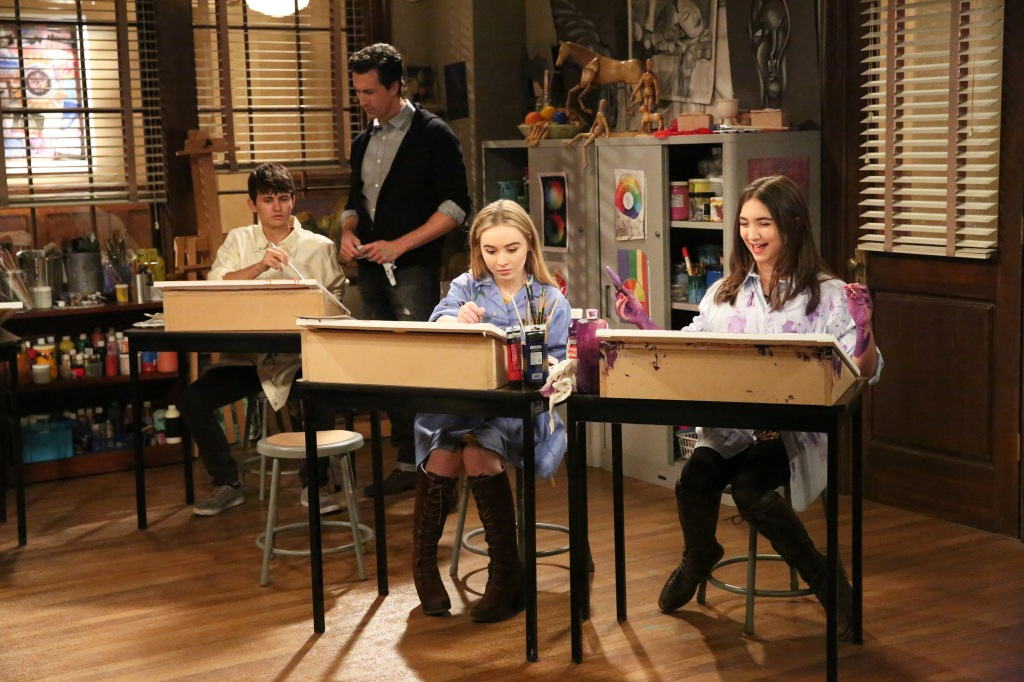 GIRL MEETS WORLD - AARON LAZAR, SABRINA CARPENTER, ROWAN BLANCHARD (Disney Channel/Mitch Haaseth)