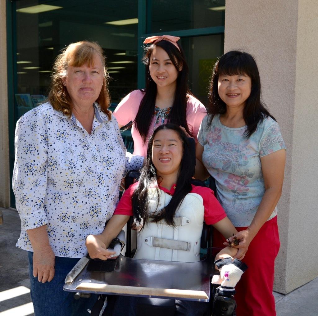 Debbie Morale, reporter Cassandra Hsiao, Jennifer Tseng and Angela Oyama. Courtesy of Cassandra Hsiao.