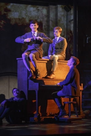 Photo Credit: BroadwayWorld.com Josh Castille and co-stars Andy Mientus and Daniel David Stewart (L to R) in SPRING AWAKENING.