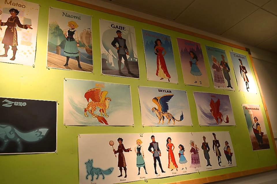 Elena of Avalor's Production Offices Character Layout (Cassandra Hsiao)