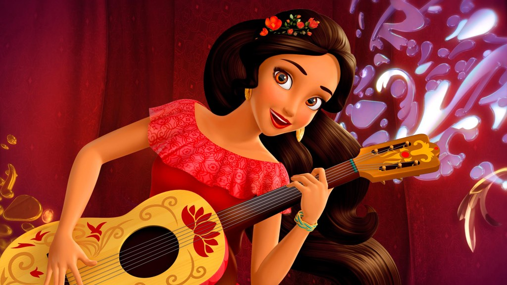 "ELENA OF AVALOR - Premiering this summer on Disney Channel, ""Elena of Avalor"" is an animated series that follows Elena, a brave and adventurous teenager who saves her kingdom from an evil sorceress and must now learn to rule as crown princess until she is old enough to be queen. (Disney Channel) ELENA"