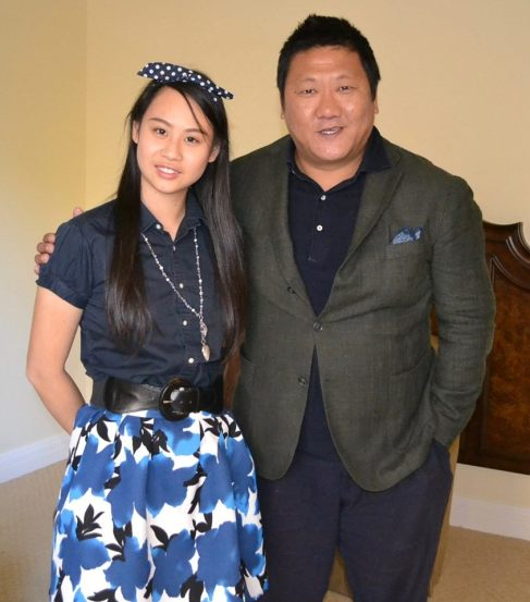 Journalist Cassandra Hsiao and Benedict Wong.
