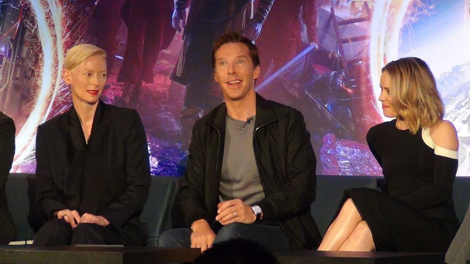 Tilda Swinton, Benedict Cumberbatch, and Rachel McAdams.