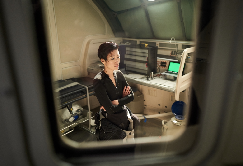 BUDAPEST - Production of the scripted portion of MARS. Actress Jihae plays Astronaut Hana Seung. (photo credit: National Geographic Channels/Robert Viglasky)