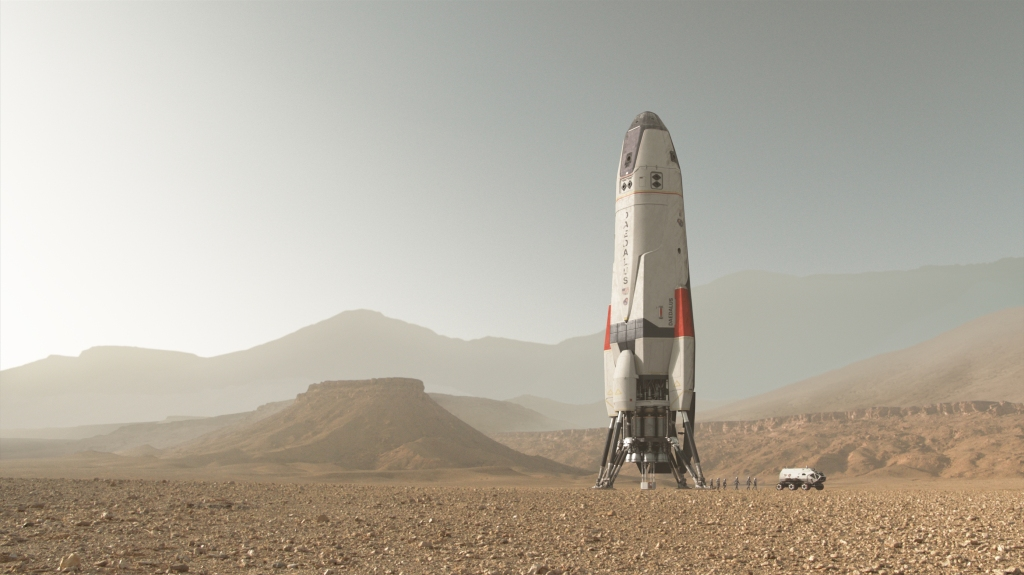 The Daedalus on Mars. The global event series MARS premieres on the National Geographic Channel November 14. (courtesy of Framestore)