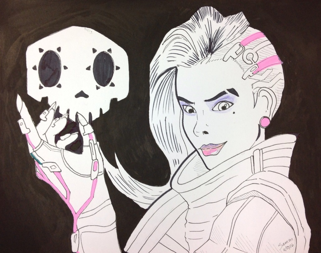 Overwatch's 23rd character, Sombra, was made available to players this Tuesday. Illustration by Samantha Monterrosa