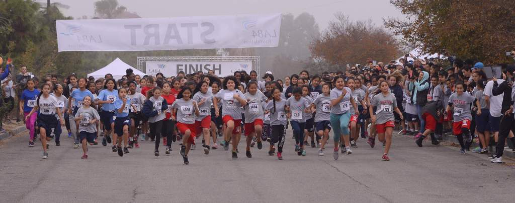 The 2016 LA84 Foundation Run4Fun Festival: December 10th, 2016.  Courtesy: Jon Soohoo/LA84 Foundation
