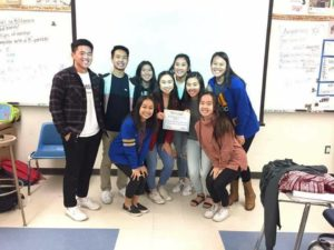 ASB club commissioners present ARK board with December club of the month. Photo courtesy of Katie Ellis