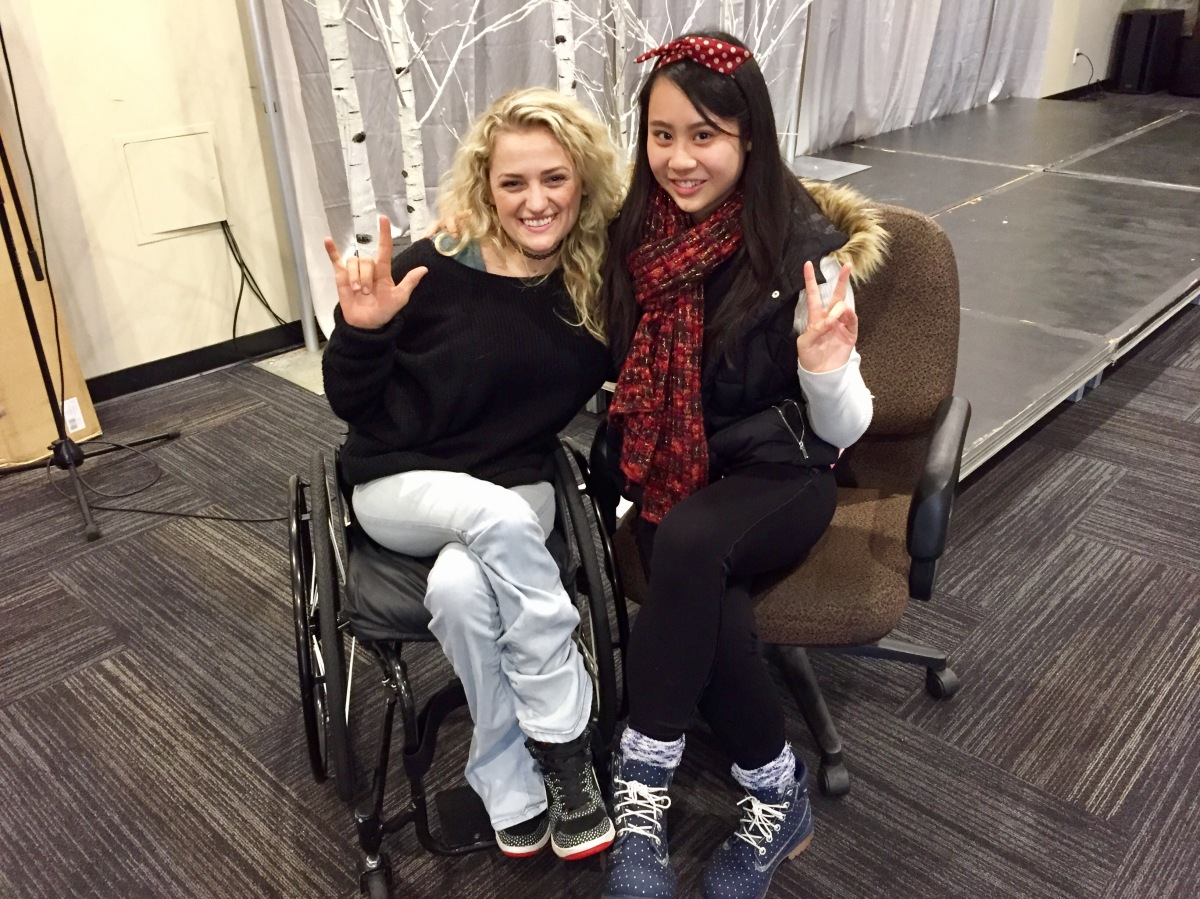 Ali Stroker and Journalist Cassandra Hsiao. Courtesy of Karen Rymar