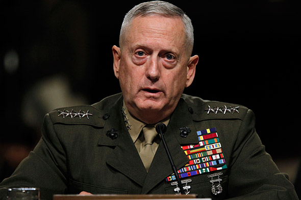 Donald Trump Secretary of Defense Nominee James Mattis.