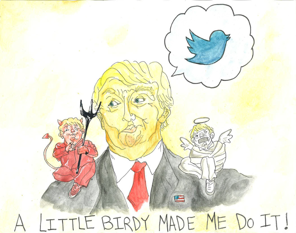 trump twitter A little birdy made me do it...