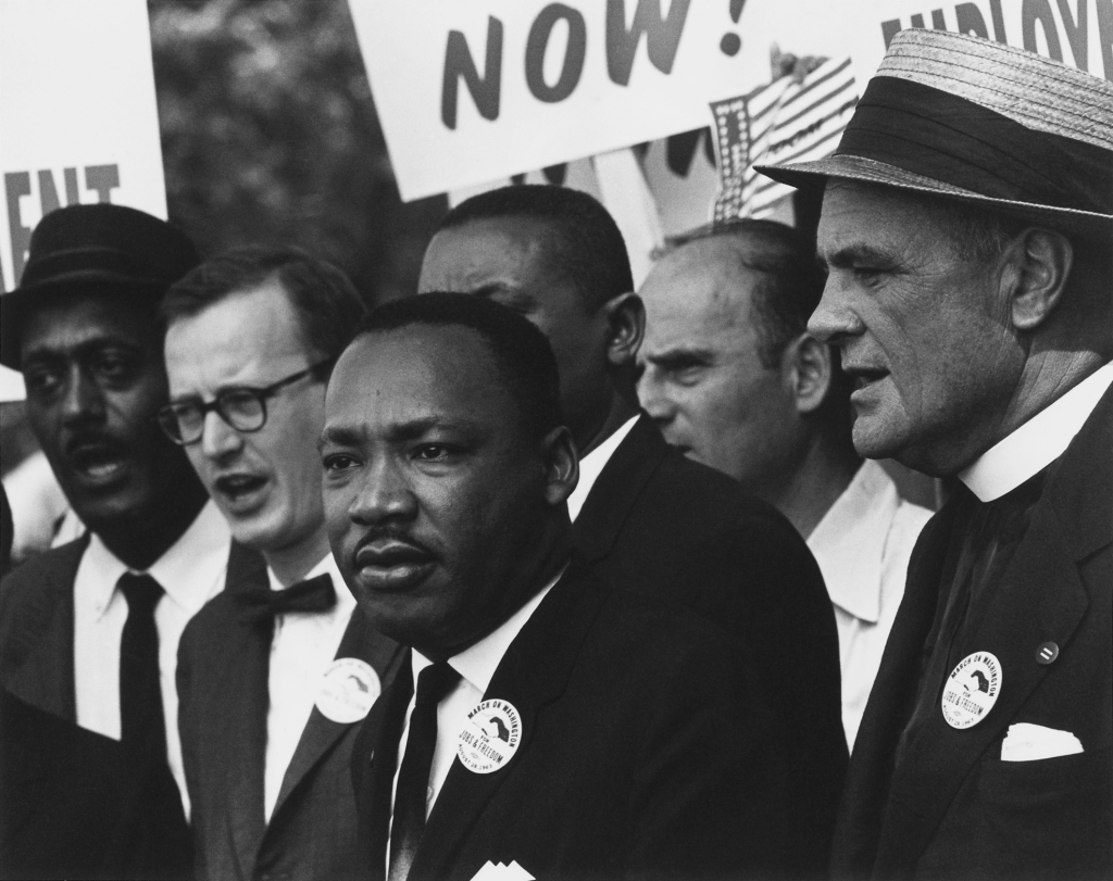 Dr. Martin Luther King Jr. adresses the audience during his March on Washington D.C. for Jobs and Freedom on August 28, 1963. Photo by Rowland Scherman via Creative Commons