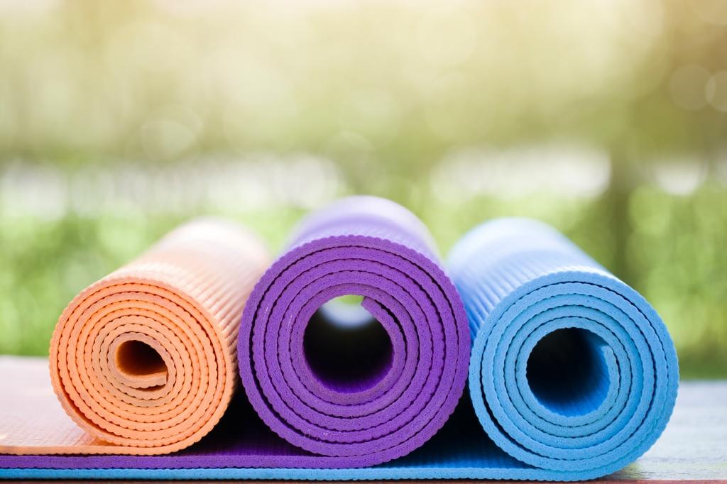 Yoga mats. Photo via Harvard University Health Publications.