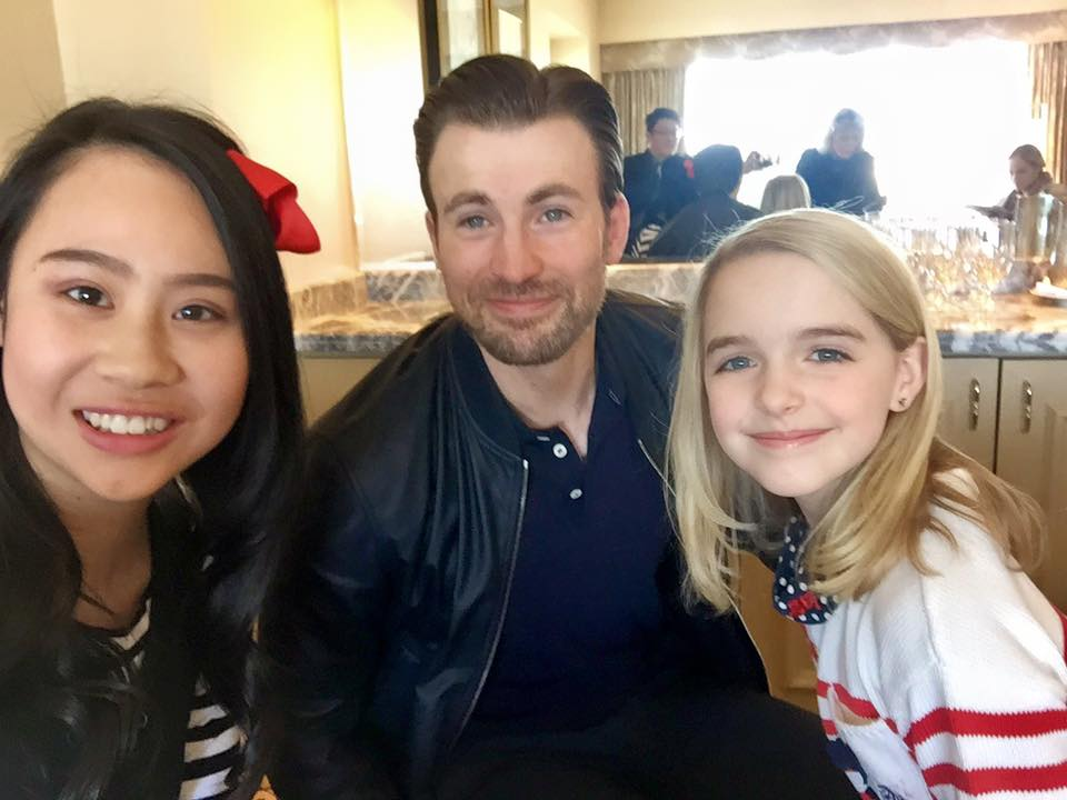 17426409 1284373874980003 5952276634975570638 n Chris Evans on Captain America, pursuing his dreams, and love for Mckenna Grace