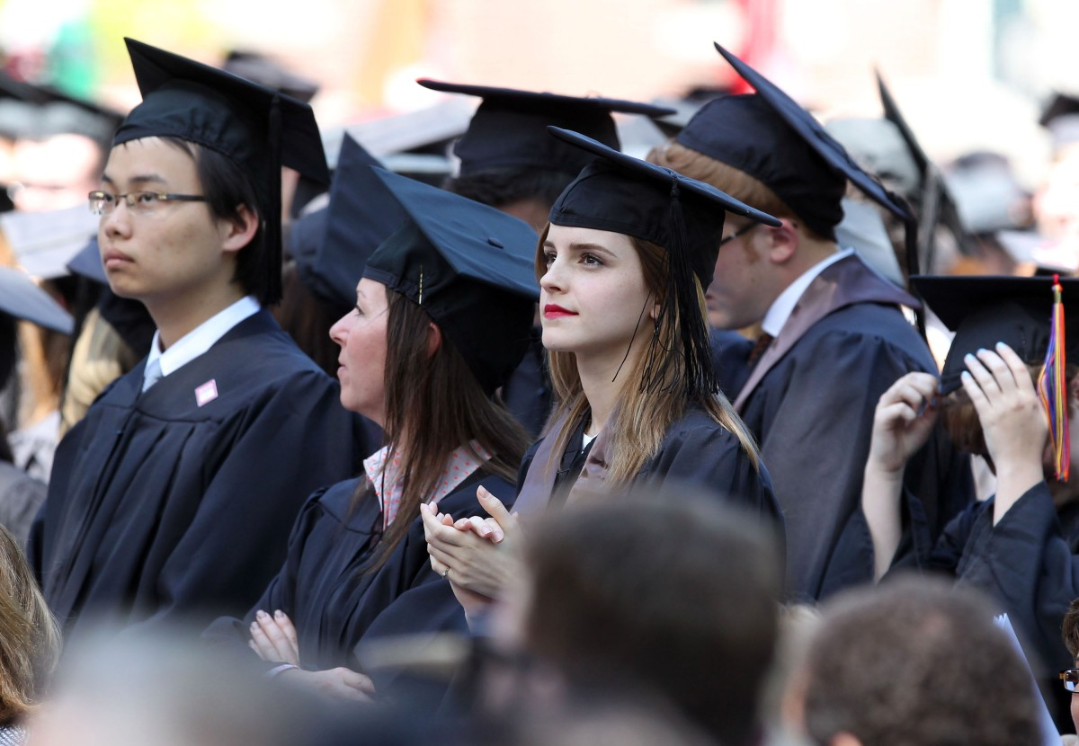 emma watson brown university graduation pictures 4 Six things we gleaned from the Beauty and the Beast press conference