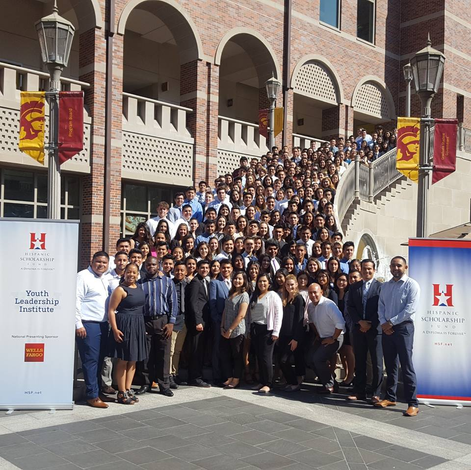 hsf yli2k17 usc2 Finishing the Youth Leadership Institute, the Hispanic Scholarship Fund sends students off with a purpose!
