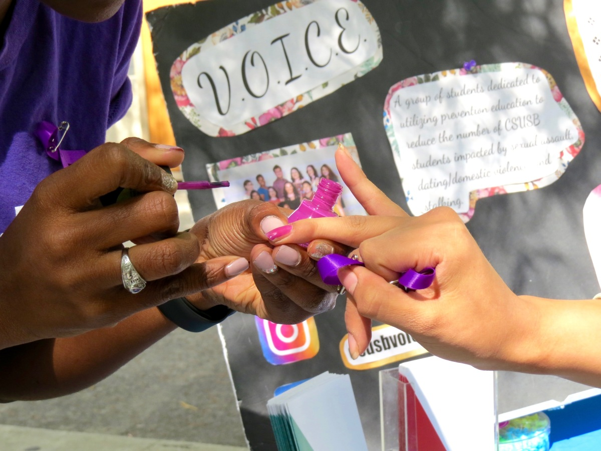 img 8304 Students paint their nails to raise awareness for domestic violence