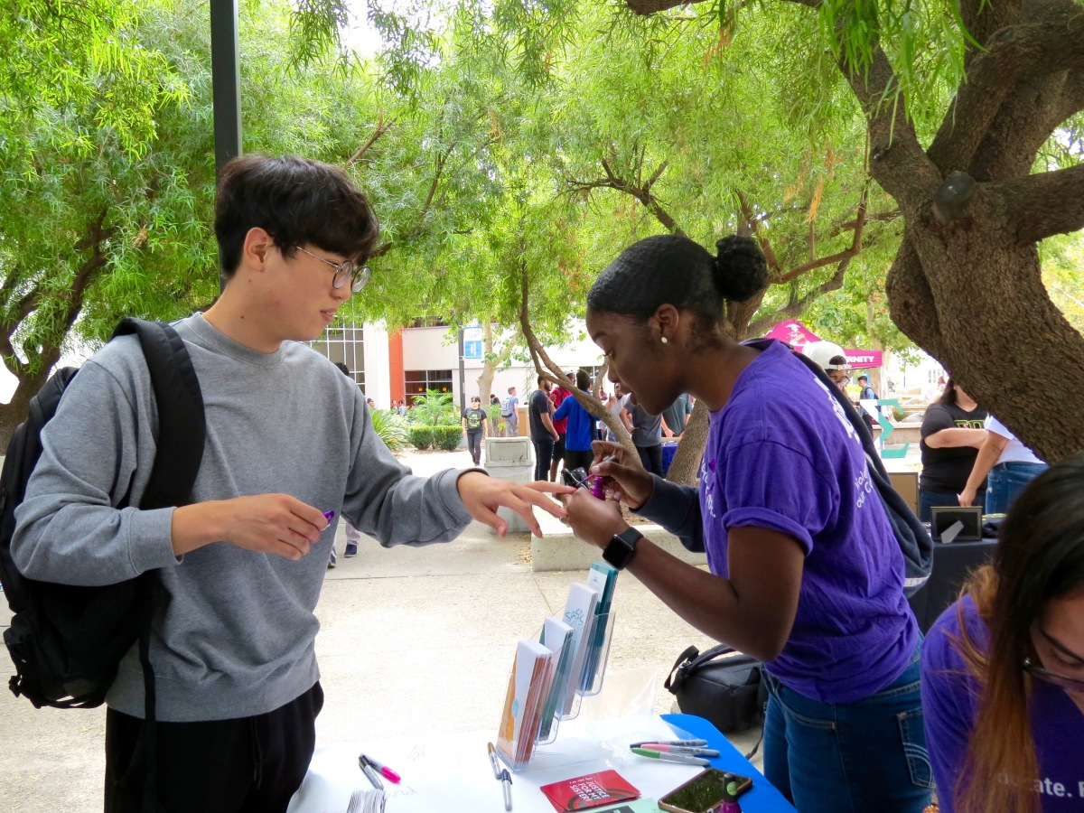 img 8321 Students paint their nails to raise awareness for domestic violence