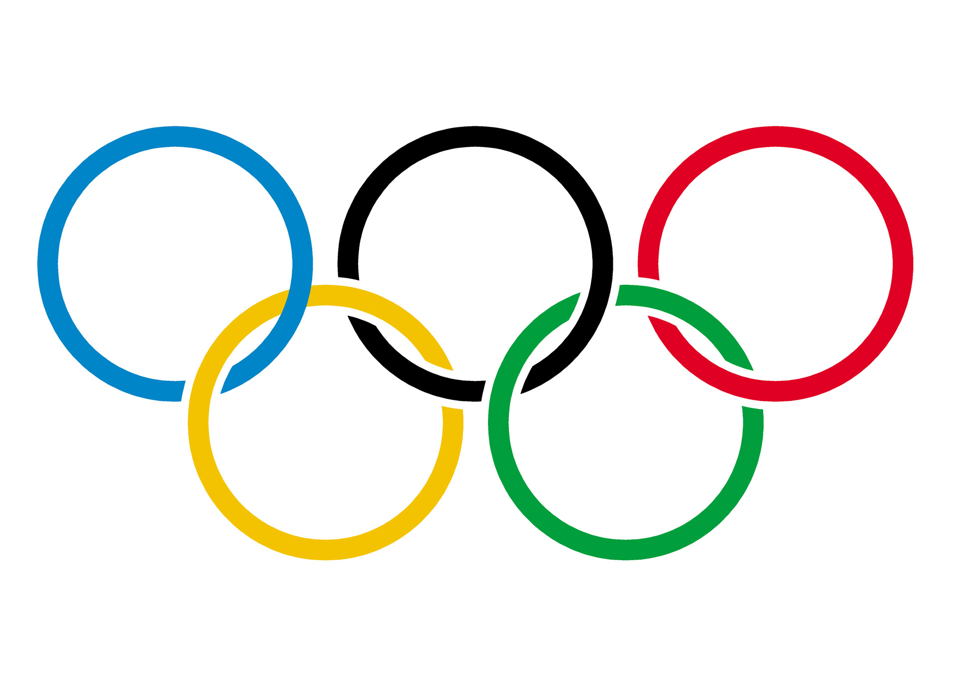 olympic rings on white Immigration & sports